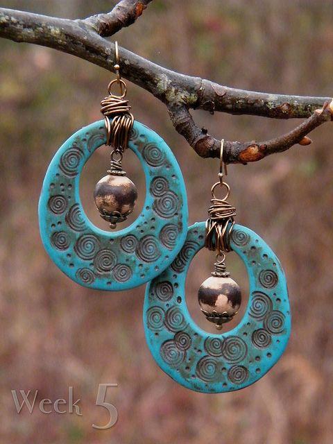Raindrops in the Woods ~ 52 Earrings: week 5 by TreeWingsStudio, via Flickr