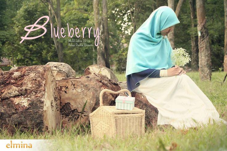 Khimar Elmina - Zahra Blueberry #hijab #jilbab #elmina