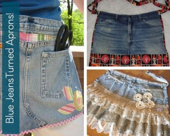 Roundup: 7 Blue Jeans Turned Aprons