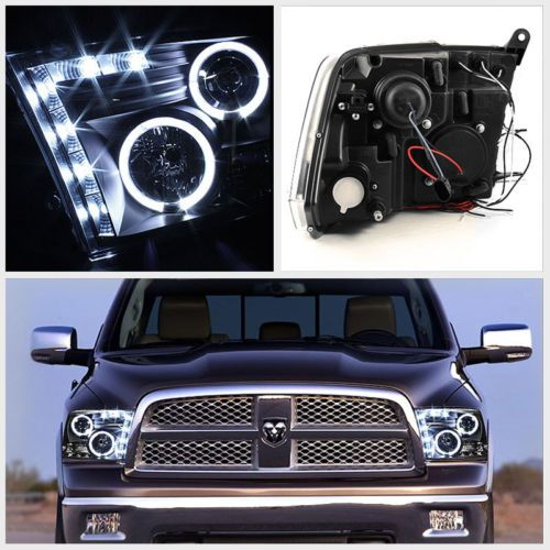 HID Xenon + 09-2013 Dodge Ram 1500 / 2500 / 3500 CCFL Halo LED DRL Projecto