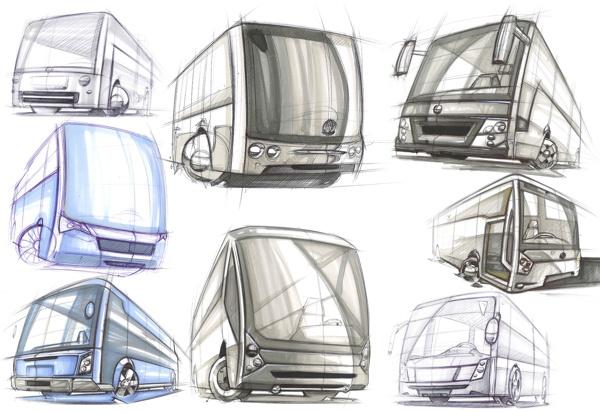 Bunch of Buses by José Antonio Derbli, via Behance