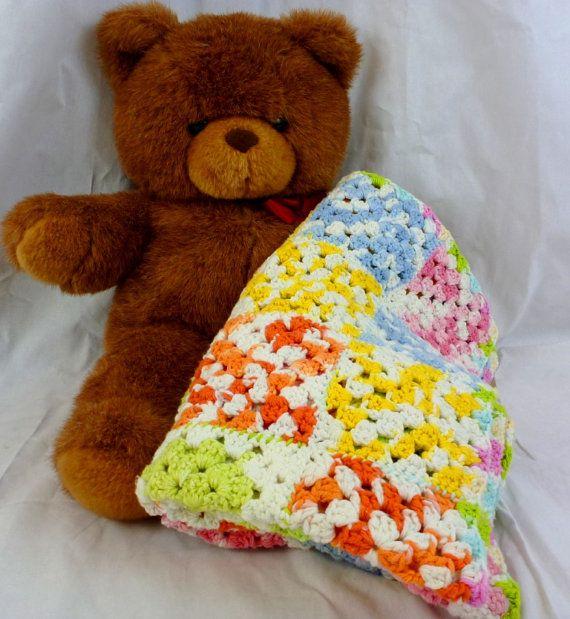 NEW Handmade Crocheted 100 Baby Blanket Afghan by BettyBeeInfinity