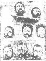 Decapitated heads of Armenian men  put on display by the Turks