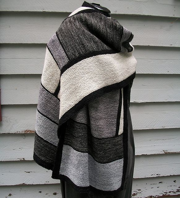 Ravelry: All the Shades of Truth pattern by Laura AylorShades, Truths Pattern, Knits Pattern, Black White, Knits Shawl, Frank Lloyd Wright, Laura Aylor, Colors Block, Ravelry
