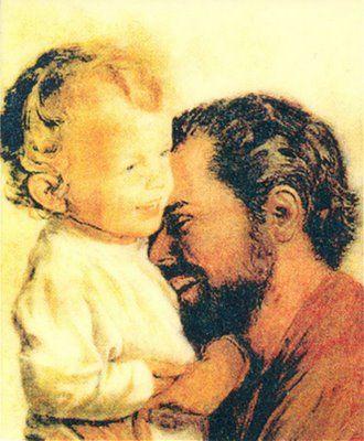 St. Joseph and baby Jesus. joy!