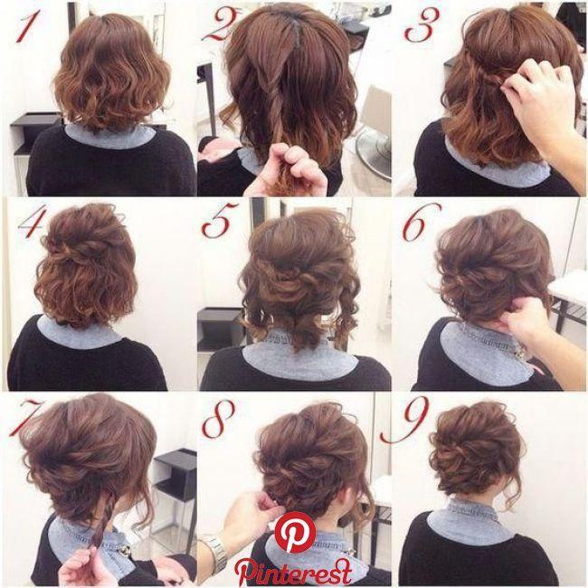Pin By Anitalim On Coiffures Short Hair Prom Updos Bridesmaid Hair Updo Short Hair Styles