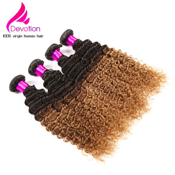 Find More Human Hair Extensions Information about Two Tone Brazilian Deep Curly Virgin Hair Ombre Hair Extensions 4pcs/lot Ombre T1B/30 Brazilian Deep Wave Free Shipping,High Quality brazilian deep wave,China deep wave Suppliers, Cheap virgin hair ombre from Devotion Hair Products Co., Ltd. on Aliexpress.com