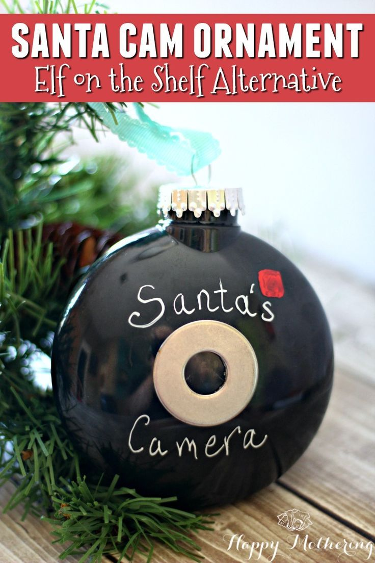 Santa Cam Ornament: Alternative To Elf On The Shelf Christmas
