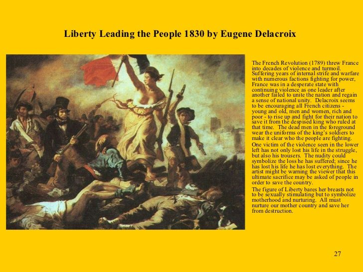 liberty leading the people history essay The liberty leading the people is a painting which subjects to the symbolism and formality in the social history of the french nation  after depicting the social history of the french nation through his most famous painting, delacroix never painted such a political scene again.