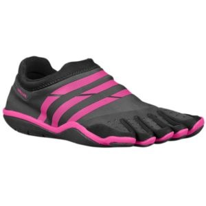 adidas adipure Barefoot Trainer - Women's - Training - Shoes - Black/Intense Pink/Black  Weird that I REALLY want these?