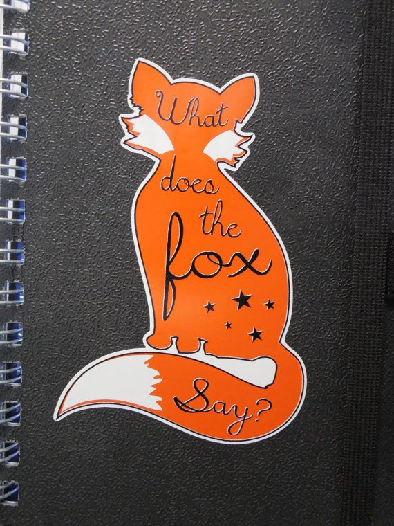What Does the Fox Say by DecalHunterz on Etsy