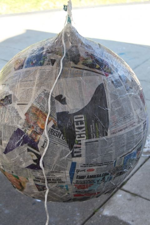 DIY: How to Make A Paper Mache Lamp – Pretty Prudent