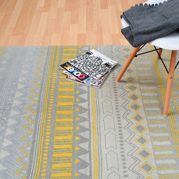 Onix tribal rugs on11 in yellow buy online from the rug seller uk