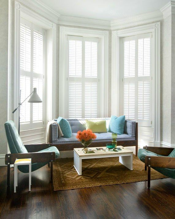 plantation shutters with drapes - Google Search