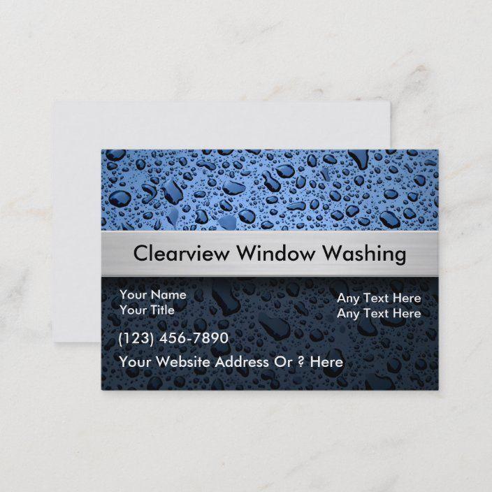 Window Washing Business Cards Zazzle Com Cleaning Business Cards Washing Windows Business Cards
