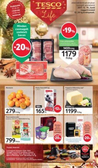 TESCO Akciós Újság 2017 december 19-24-ig  Szeletelt bacon 605d40ccfc