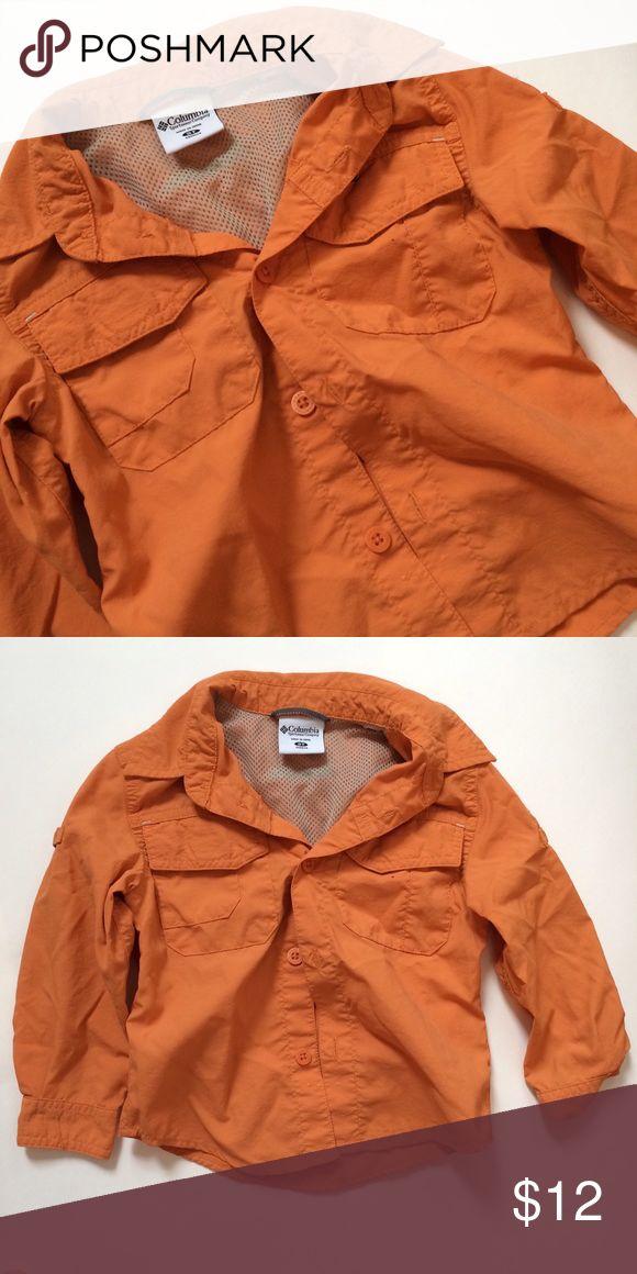 Boys 3t PFG Columbia fishing shirt Boys Orange omni dry shirt in orange long sleeve excellent condition! Columbia Jackets & Coats
