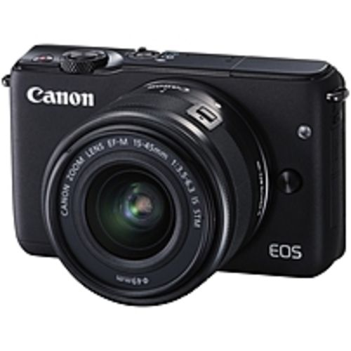 Canon EOS M10 18 Megapixel Mirrorless Camera with Lens - 15 mm - 45 mm - Black - 3 Touchscreen LCD - 16:9 - 3x Optical Zoom - Optical (IS) - E-TTL II - 5184 x 3456 Image - 1920 x 1080 Video - HDMI - PictBridge - HD Movie Mode - Wireless LAN