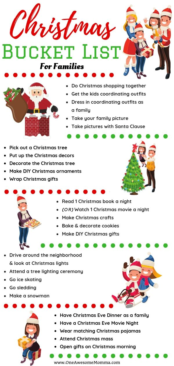 Are you looking for memorable and fun Christmas traditions to do with your  family? Check out this Christmas bucket list for families with babies,  toddlers, ... - 12 Memorable Christmas Tradition Ideas To Do With Your Family