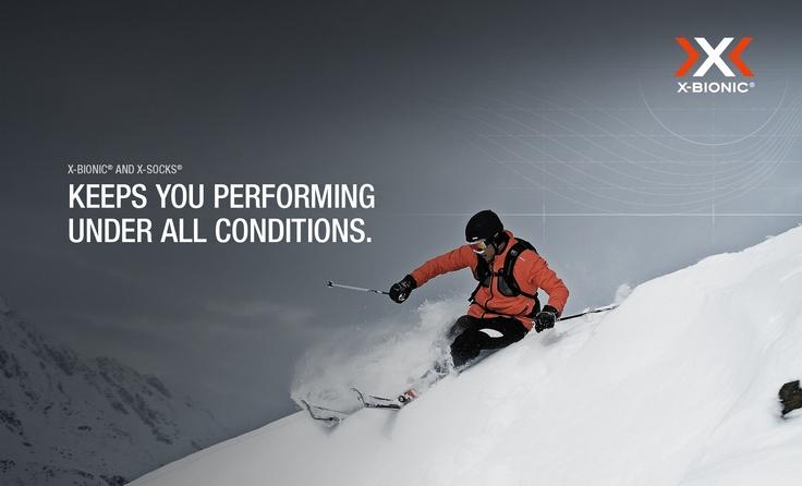 X-BIONIC Wallpaper Alpine Skiing