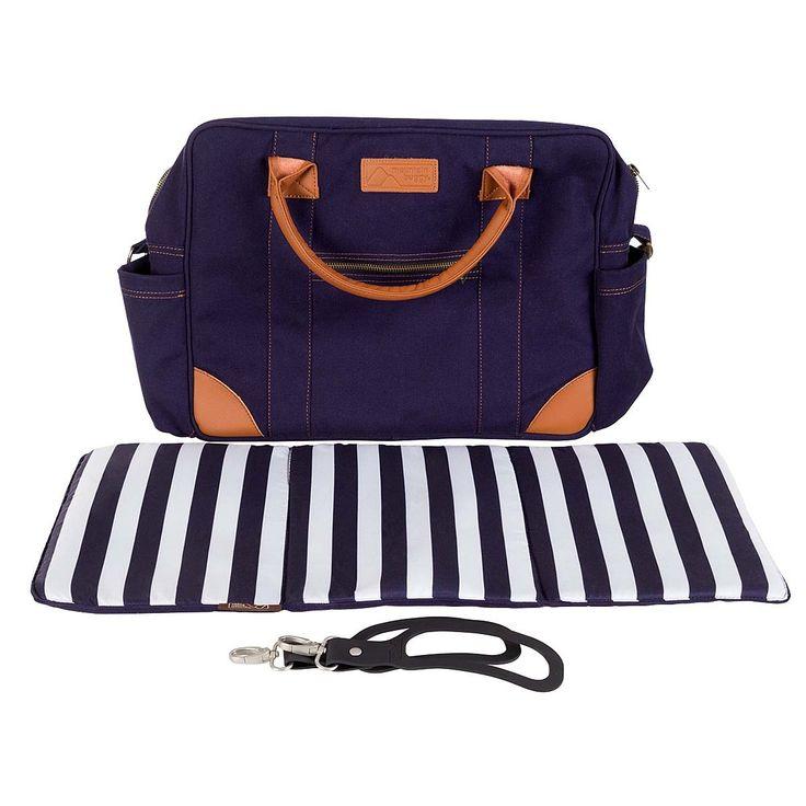 Mountain Buggy Fashion Satchel Bag - Nautical - Nappy Bags - Changing - Baby Basics | Babycity