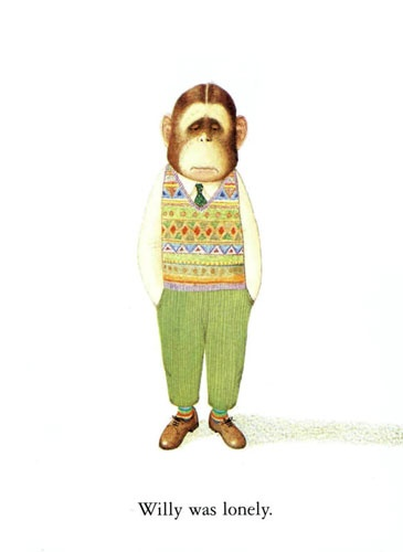 Willy, el chimpancé. Todos los libros de Anthony Browne son geniales.