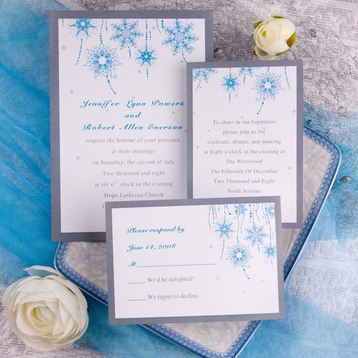 custom wedding invitations nashville%0A An example of invitations sent out to guests  The white and blue help  promote the theme