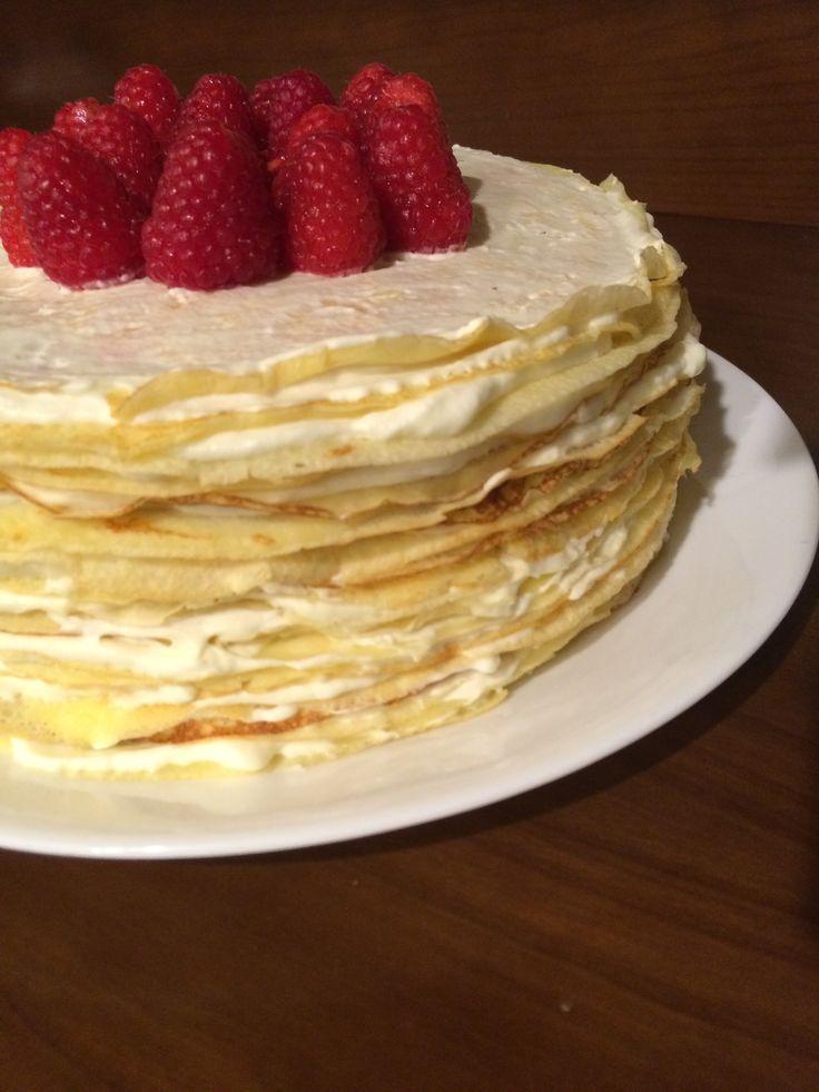 Lemon-Mascarpone Crepe Cake | Recipe | Mascarpone, Crepe cake and ...