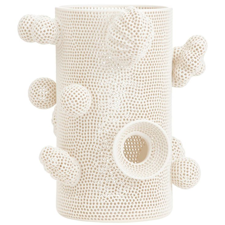 Tony Marsh Perforated Cylinder with Attachments | From a unique collection of antique and modern decorative objects at https://www.1stdibs.com/furniture/more-furniture-collectibles/decorative-objects/