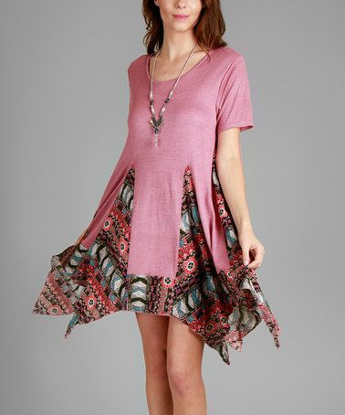 Another great find on #zulily! Pink Geo Handkerchief Tunic #zulilyfinds