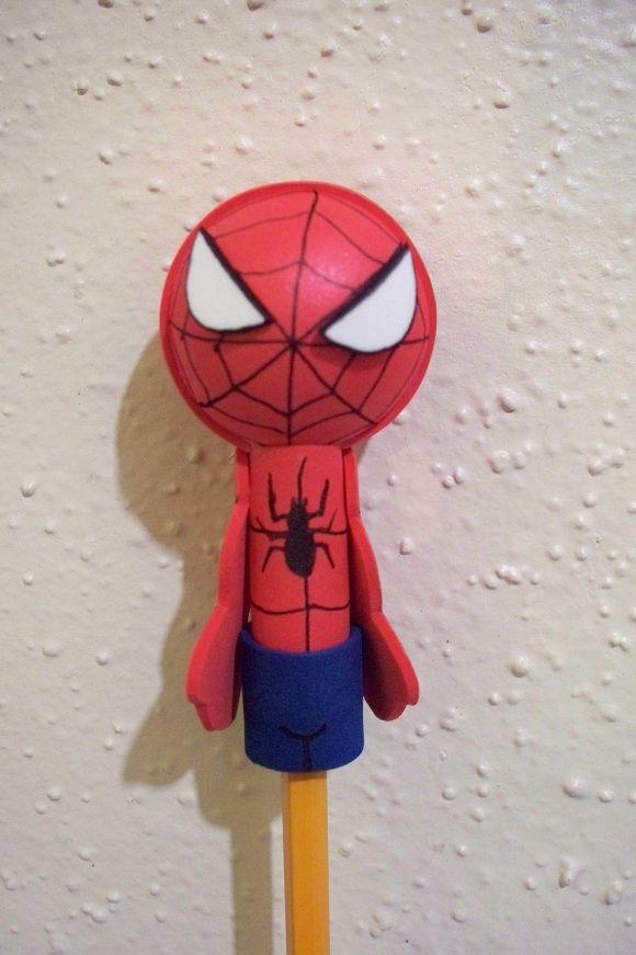 Spiderman craft foam pencil topper