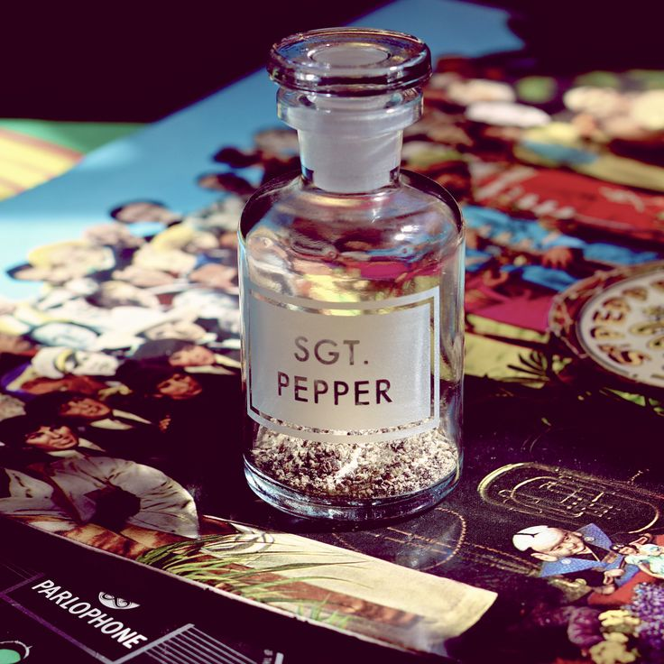 """it was 50 years ago today...""  #sgtpepperslonelyheartsclubband #sgtpepper #apothecary #bottle"
