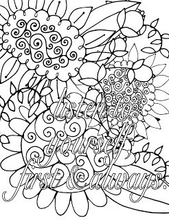 Listen to Yourself, First & Always. - Affirmation Free Adult Coloring Page | Free PDF Adult Coloring Pages & Books