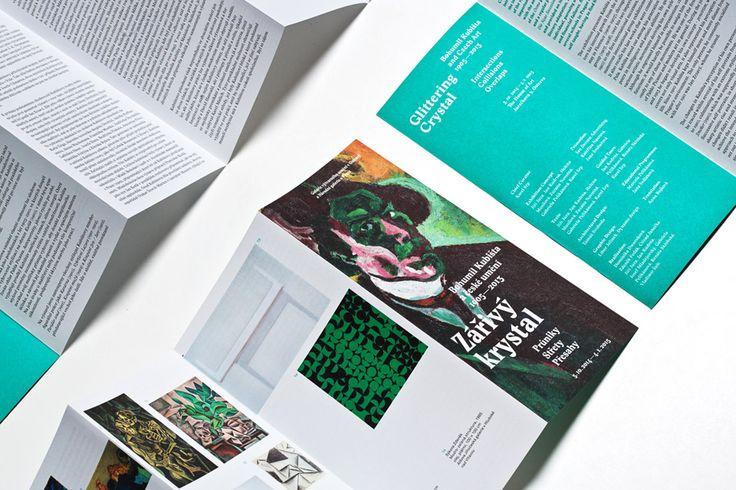 Exhibition Zářivý krystal - Bohumil Kubišta - Graphic design by Dynamo design, photo of printed realization by w:u studio