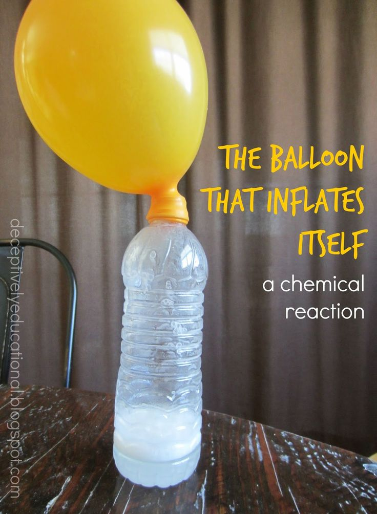 That title is probably a little deceiving. The truth is, we blew up a balloon without it ever touching our lips - thanks to a gas-producing...