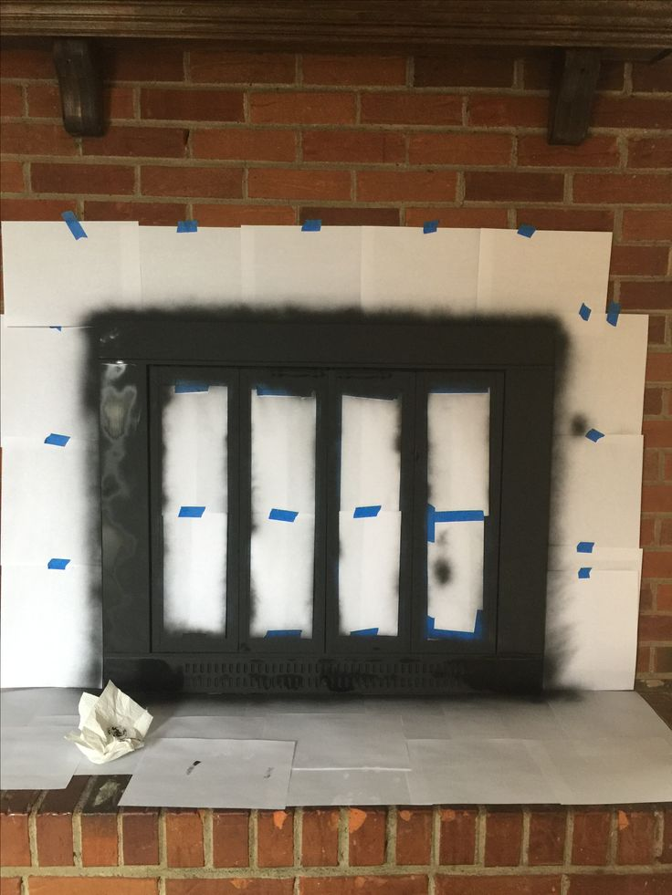 High heat paint and Painting fireplace