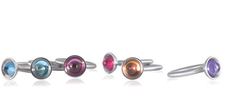 In allen Farben: die hübschen Ringe Pirot mini von PUR