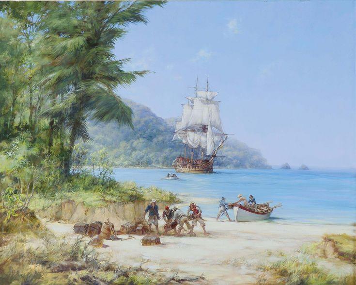 Montague Dawson, F.R.S.A., R.S.M.A., Henry Morgan's Ship off Gorgona in the Pacific
