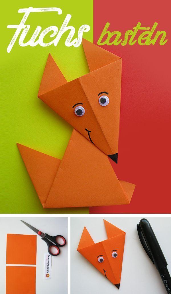 Origami Fuchs Falten Fuchs Basteln Origami Fuchs Und Basteln