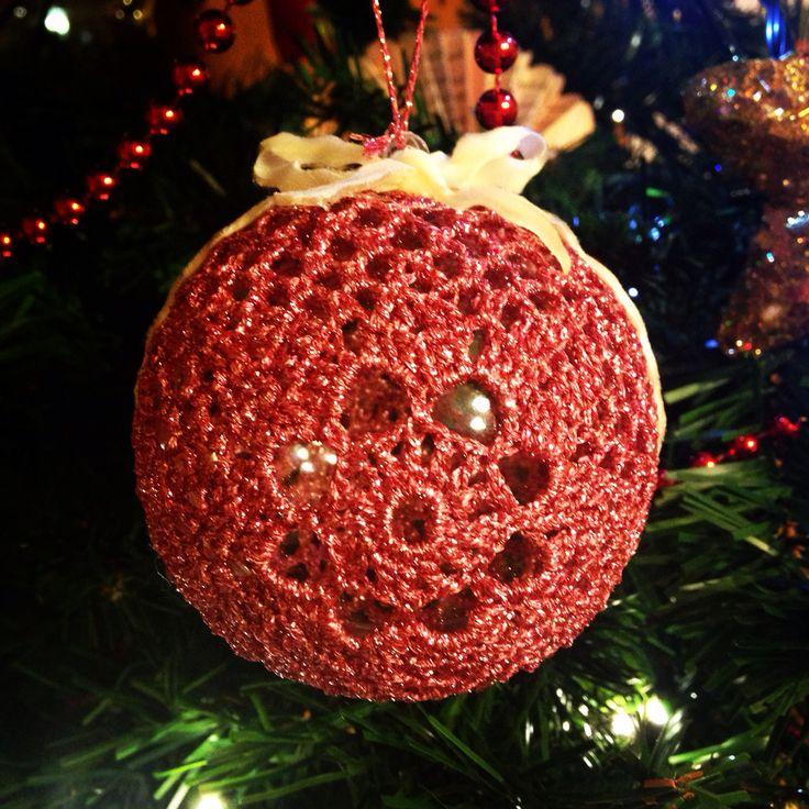 Pink Christmas Palline di Natale crochet #christmas #natale #decoration #pallina #crochet #uncinetto #christmasball