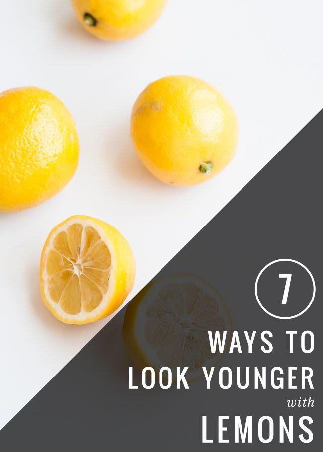 kruiden en citroenen op gezicht voor een jongere uitstraling