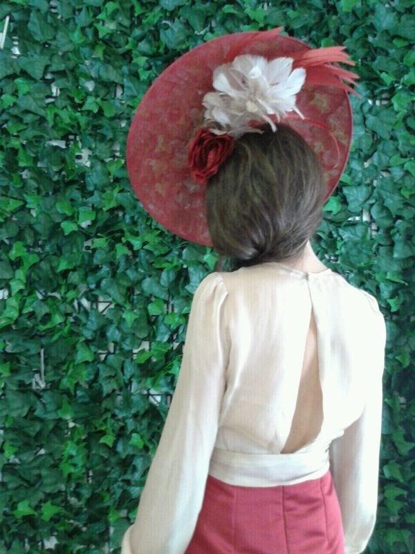 #Cherubina #tocados  #invitadas #boda #wedding #headpiece #pamela #hat #Belulah
