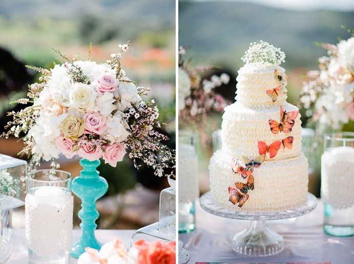 Butterfly wedding cake.  Beautiful colors.  Orange County wedding planner: Butterfly Wedding, Www Creativeweddingstyle Com, Orange County, Branches Events, Orange Weddings, County Wedding, Wedding Planners, Butterflies Wedding, Www Creativeweddingstyl Com