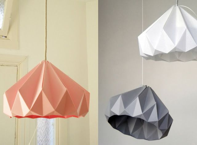Origami lamps. Want to do the same