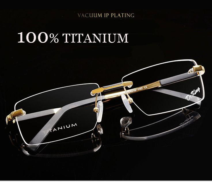 Titanium eyeglasses rimless oculos de sol fashion brand designer eyeglasses frame masculino men prescription glasses online 1083