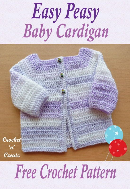 Easy Peasy Baby Cardigan Free Crochet Pattern | Pinterest | Crochet baby Free pattern and Crochet  sc 1 st  Pinterest & Easy Peasy Baby Cardigan Free Crochet Pattern | Pinterest | Crochet ...