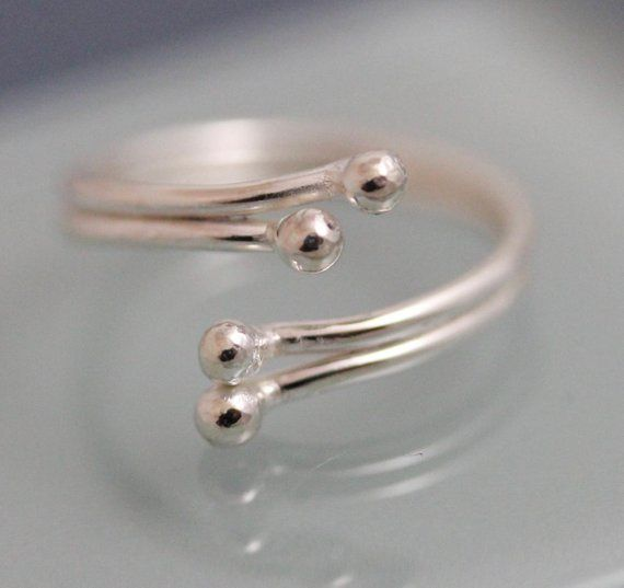 Petite Recycled Sterling Silver Ring Band