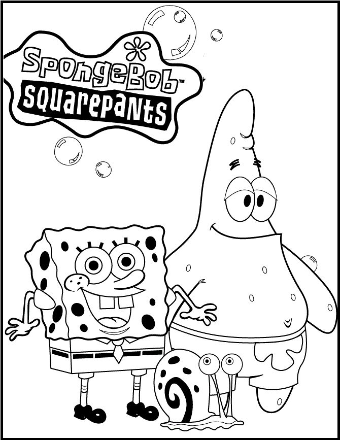 20 best images about spongebob coloring page on pinterest