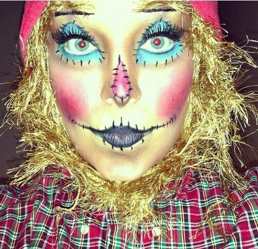21 best Scarecrow Makeup images on Pinterest | Scarecrow makeup ...