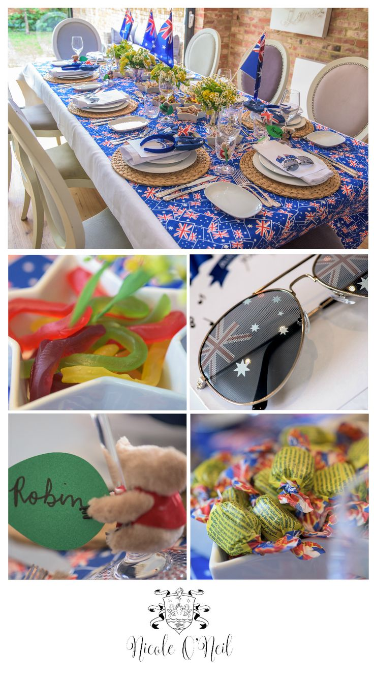 Be inspired by this fun Australia Day Party Table Setting. Complete with ideas for your food menu, invitations, placecards, decorations, treats as well as a free printable Australian song book.